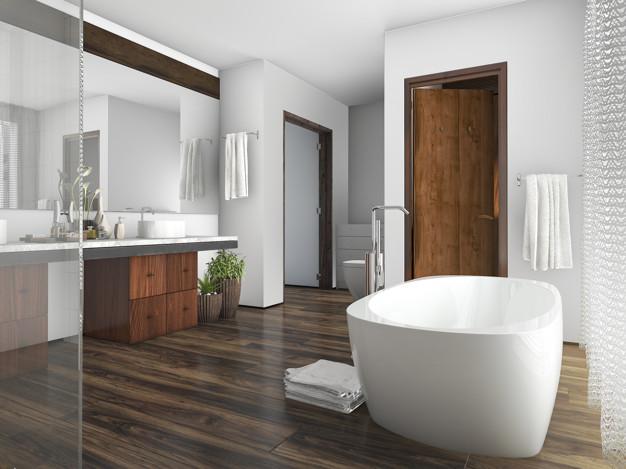 badeværelse i trælook