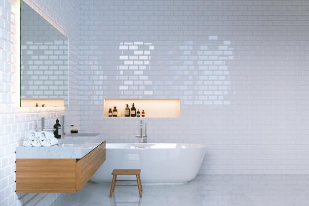 murerarbejde i badeværelset