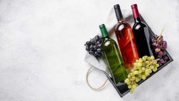 smagskasse med vin
