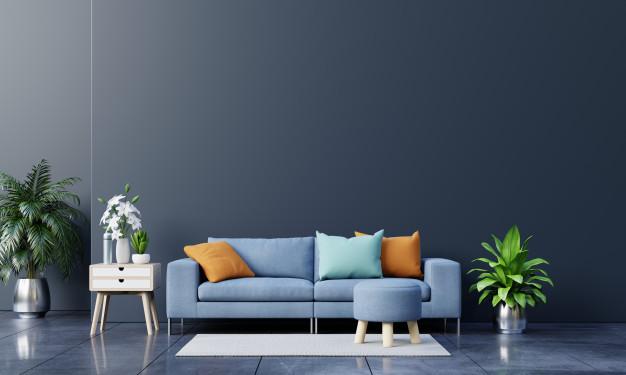 blå møbler