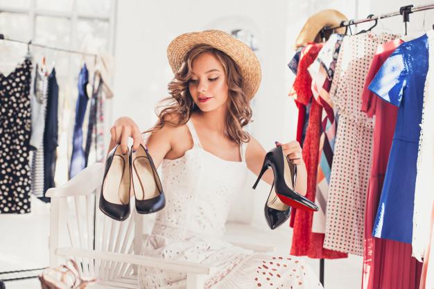 kvinde shopping